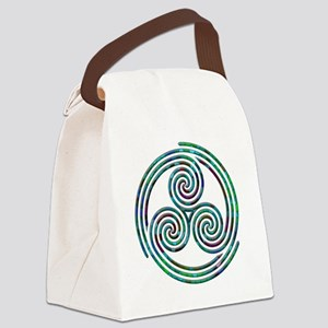 Triple Spiral - 7 Canvas Lunch Bag