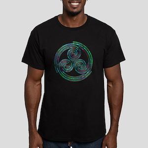 Triple Spiral - 7 Men's Fitted T-Shirt (dark)