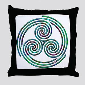 Triple Spiral - 7 Throw Pillow