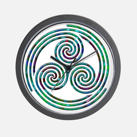 Triple Spiral - 7 Wall Clock