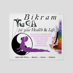 Bikram Yoga Calendar Cover Throw Blanket