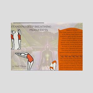 Yoga Pranayama Rectangle Magnet