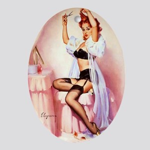 Dress Up Pin Up Oval Ornament