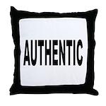 Authentic Throw Pillow