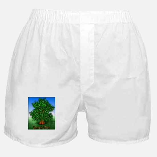 Earth Day Tree Boxer Shorts