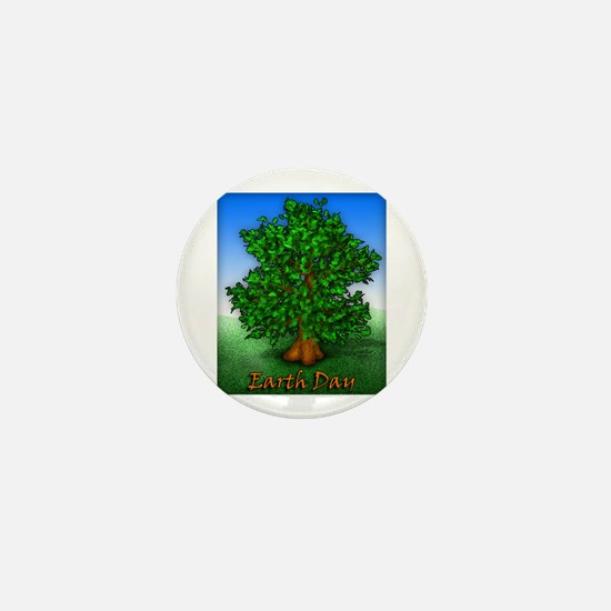Earth Day Tree Mini Button