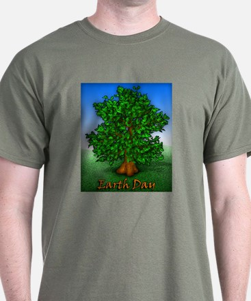 Earth Day Tree T-Shirt 8 Colors