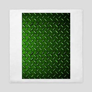 Green Diamond Plate Queen Duvet