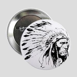 "Native American Chieftain 2.25"" Button"
