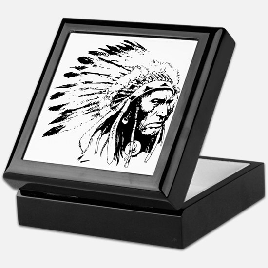 Native American Chieftain Keepsake Box