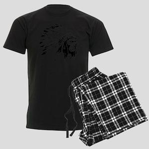 Native American Chieftain Men's Dark Pajamas