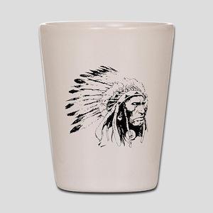 Native American Chieftain Shot Glass