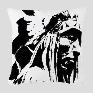 Native American Chief Art Woven Throw Pillow