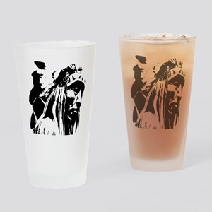 Native American Chief Art Drinking Glass