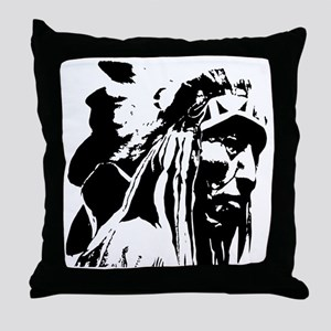Native American Chief Art Throw Pillow