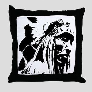 Native American Chief Art Throw Pillow