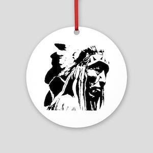 Native American Chief Art Round Ornament
