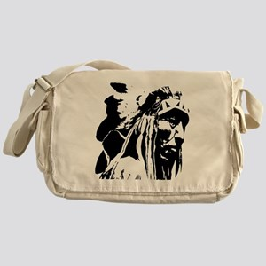 Native American Chief Art Messenger Bag