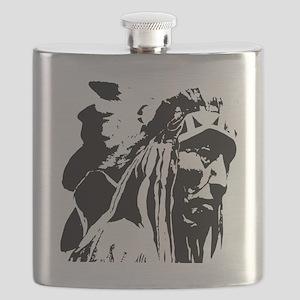 Native American Chief Art Flask