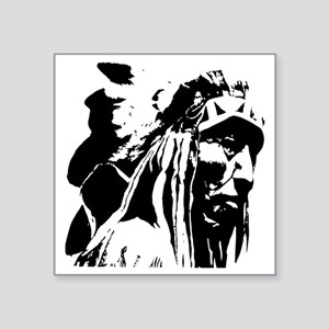 "Native American Chief Art Square Sticker 3"" x 3"""