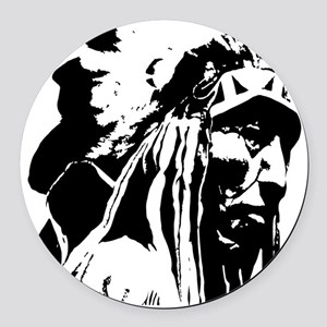 Native American Chief Art Round Car Magnet