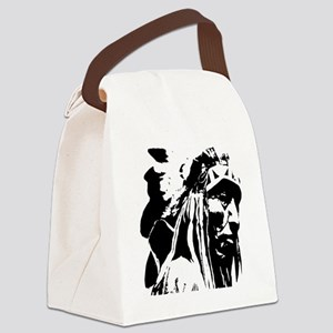 Native American Chief Art Canvas Lunch Bag