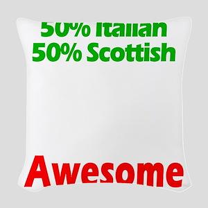 Italian - Scottish Woven Throw Pillow