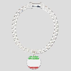 Italian - Scottish Charm Bracelet, One Charm