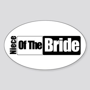 Niece of the Bride Oval Sticker