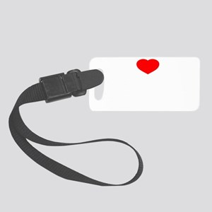 I Love Belly Dance Small Luggage Tag