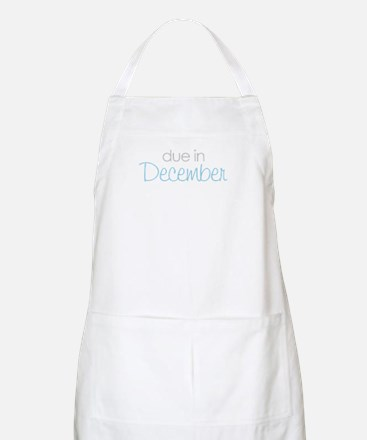 due in december blue BBQ Apron