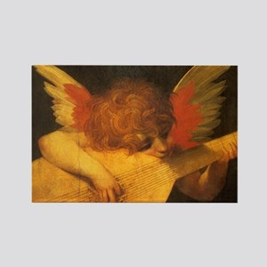 Musician Angel by Fiorentino Rectangle Magnet