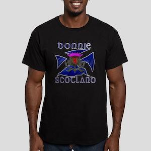 Bonnie Scotland flag d Men's Fitted T-Shirt (dark)