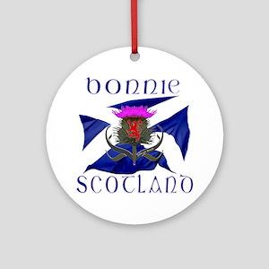 Bonnie Scotland flag design Round Ornament