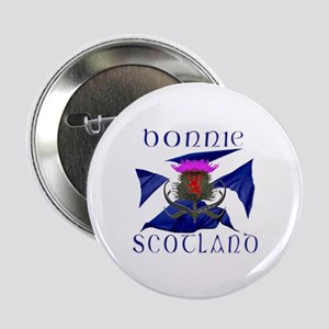 "Bonnie Scotland flag design 2.25"" Button"