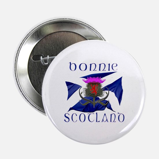 "Bonnie Scotland flag design 2.25"" Button"