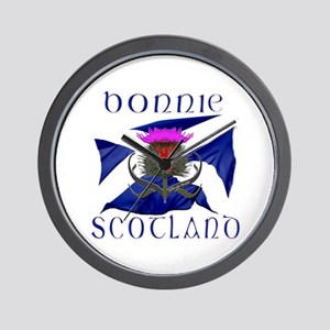 Bonnie Scotland flag design Wall Clock
