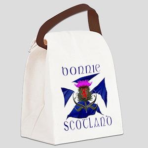 Bonnie Scotland flag design Canvas Lunch Bag