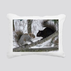 Black Squirrel Rectangular Canvas Pillow