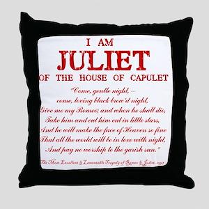 Juliet (red) Throw Pillow