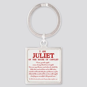 Juliet (red) Square Keychain