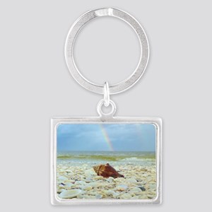 Sanibel Seashells Under The Rai Landscape Keychain