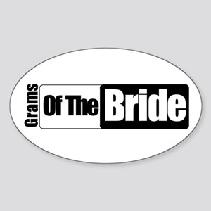Grams of the Bride Oval Sticker