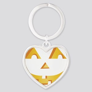 Jack O Lantern Heart Keychain