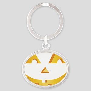 Jack O Lantern Oval Keychain