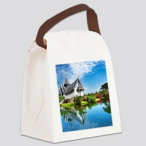 Chinese Garden Canvas Lunch Bag