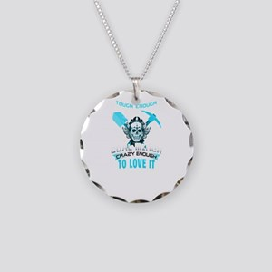 Coal Miner T Shirt Necklace Circle Charm