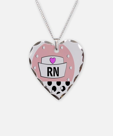 RN Clock pink bw Necklace
