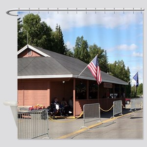 Talkeetna Railway Station, Alaska Shower Curtain