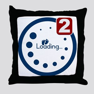 Baby Loading , Twin Notification Throw Pillow